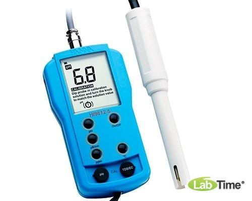 HI 9812-5 pH-метр/кондуктометр портативный водонепроницаемый (pH/EC/TDS/T)