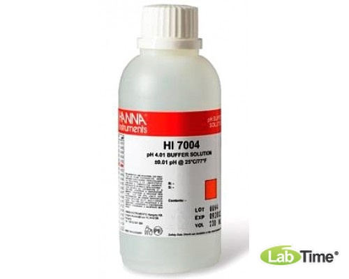 HI 7004L/C Раствор калибровочный pH:4.01 (460мл) с сертификатом