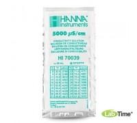 HI 70039C Раствор калибровочный 5000 мкСм/см упак. 25 шт. по 20 мл с сертификатом