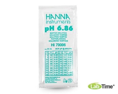 HI 70006C Раствор калибровочный рН:6,86 упак. 25 шт. по 20 мл c сертификатом