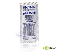 HI 70009C Раствор калибровочный рН:9,18 упак. 25 шт. по 20 мл с сертификатом