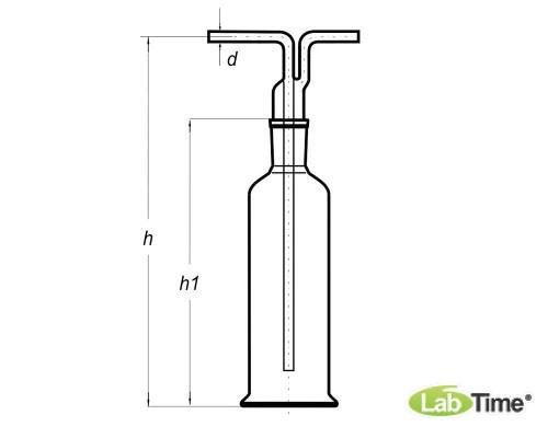 Склянка Дрекселя 250 мл для промывки газов, Boro