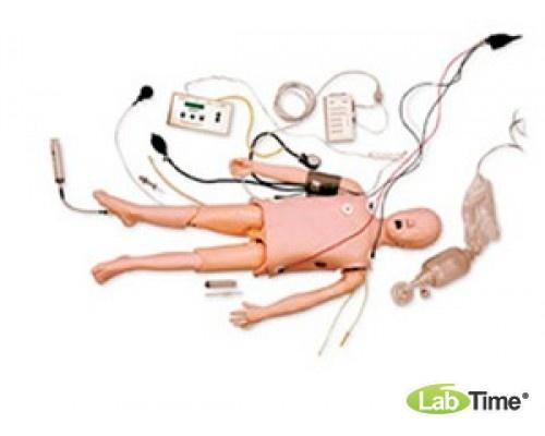 Тренажер педиатрической реанимации и ОБЖ, с интерактивным имитатором аритмии