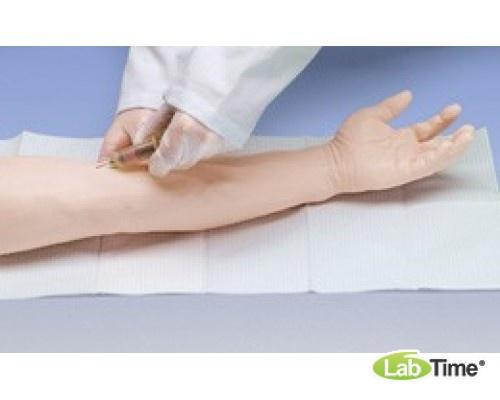 Усовершенствованный тренажер для венопункции и инъекции, рука