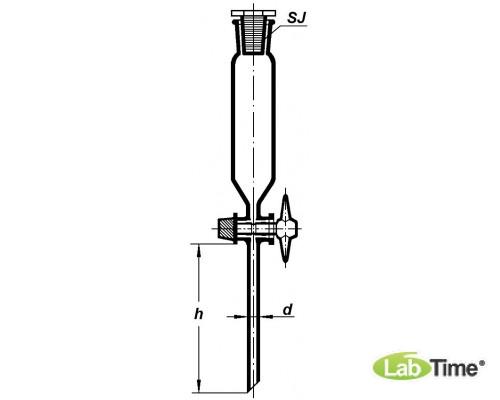 Воронка делительная цилиндрическая ВД-1-125 мл, BORO