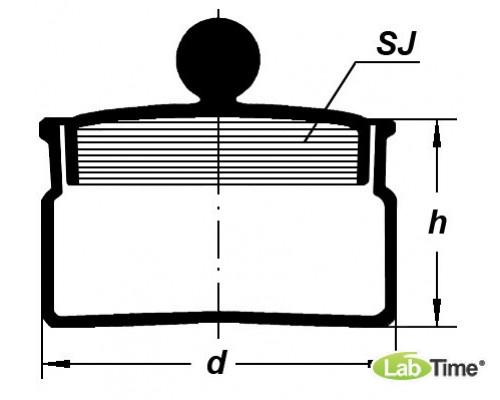 Стаканчик для взвешивания СН-50х30(бюкс), Boro