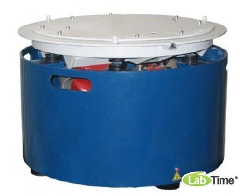 Вибропривод с гнездом для установки форм диам. 71,4 мм и диам. 101 мм