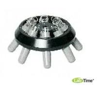 Угловой ротор 8х15 со стаканами 13011 для пробирок 15015, 15020, 15023, 15024, 15115 и 6 реакционных виал 15008 или 15040