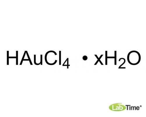 12325 Гидроген тетрахлораурат (III) гидрат, 99.9% (metals basis), Au 49% мин, 5 г