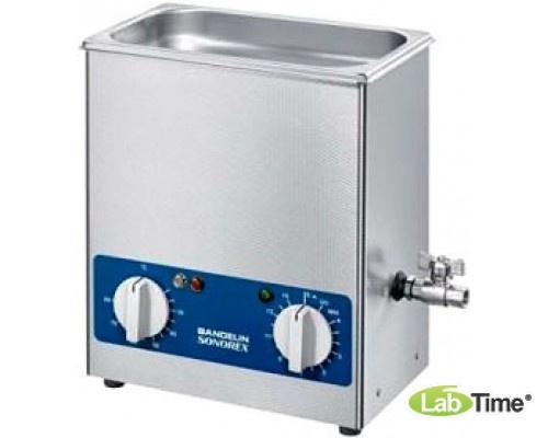 Ванна ультразвуковая SONOREX SUPER 5,5л RK 255 H с нагревом и сливным краном
