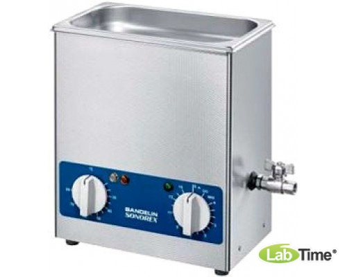 Ванна ультразвуковая SONOREX SUPER 13,0л RK 512 H с нагревом и сливным краном
