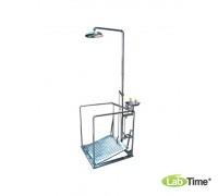 Душ-фонтан IST-15035000, н/ж сталь, с платформой и перилами