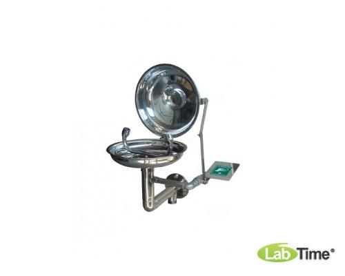 Фонтан для глаз и лица IST-15011800 настенный, оцинк./окрашенный, с крышкой