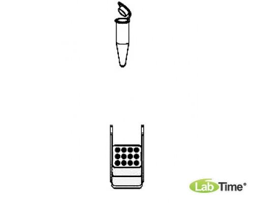 Адаптер для пробирок 12 x 1,5/2мл, для прямоугольного бакета 100мл, уп. 2 шт.