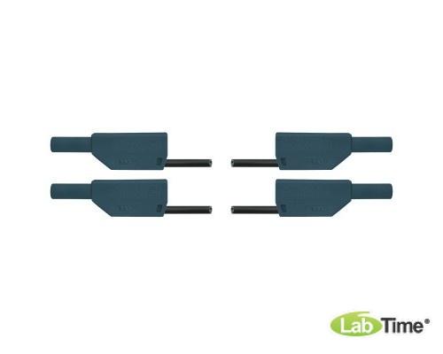 Пара безопасных соединительных проводов для опытов длиной 75 см