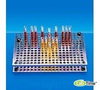 Штатив для 372 пробирок диам. 12 мм,макс. дл. 180 мм, нерж.сталь