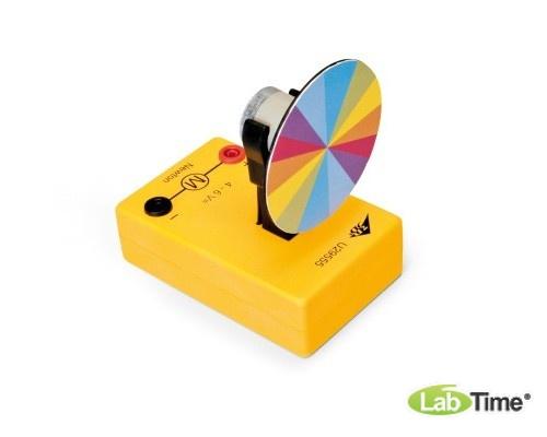 Цветной диск Ньютона с электродвигателем постоянного тока
