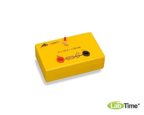 Красный светодиод в электробезопасной коробке