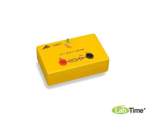 Зеленый светодиод в электробезопасной коробке