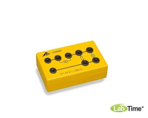 Аппарат для опытов на закон Ома в электробезопасной коробке