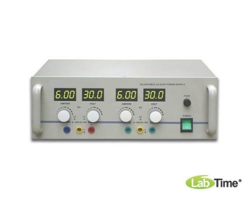 Источник питания переменного/постоянного тока, 0–30 В, 6 А (230 В, 50/60 Гц)