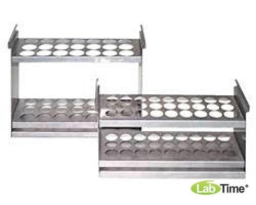 LA-207, штатив для пробирок диам. 16 мм, для криостатов и термостатов/термобань с ваннами 11 л