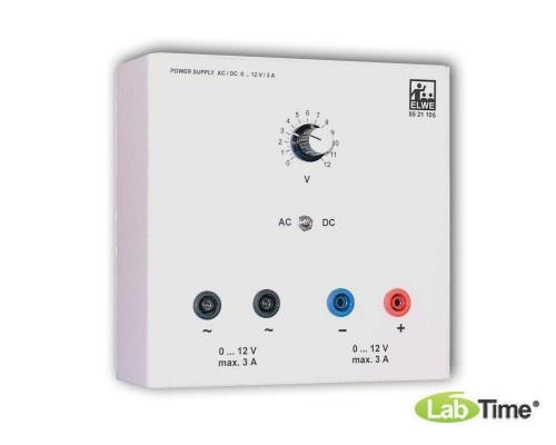 Источник питания переменного/постоянного тока, 0 – 12 В, 4 А (230 В, 50/60 Гц)