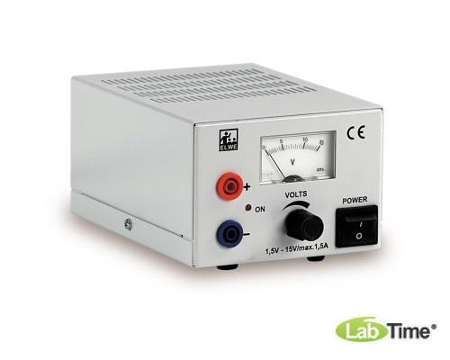 Источник питания постоянного тока, 1,5 – 15 В, 1,5 А (230 В, 50/60 Гц)