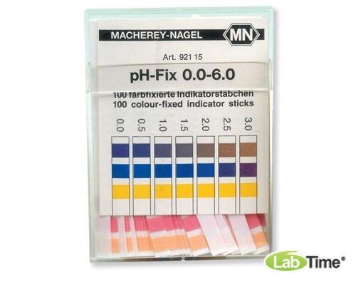 pH индикатор – тест-полоски, диапазон измерения pH 0,0 - 6,0