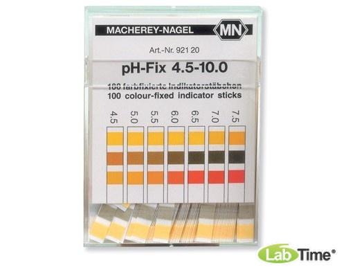 pH индикатор – тест-полоски, диапазон измерения pH 4,5 - 10