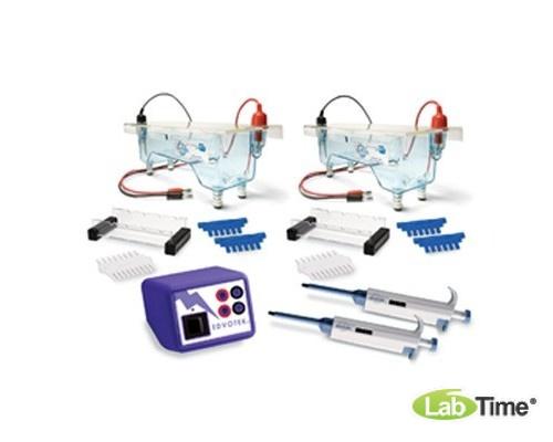 Двойное лабороторное устройство для электрофореза ДНК