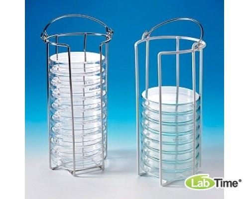 Штатив для чашек Петри standart, 15 чашек Петри диам. 60–100 мм