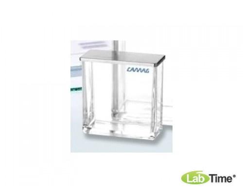 Камера (клееная из стекла) для пластин 20х10см, с крышкой