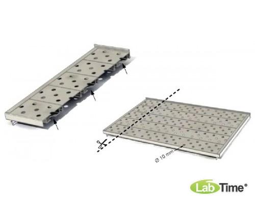 Полка перфорированная усиленная до 60кг, из нерж.стали для мод. 110, 160 л