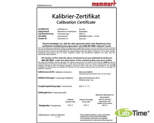 Сертификат калибровки заводской (37 градC для WNE, WPE, 160 градC для ONE)