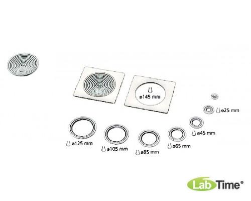 Крышка плоская с 1 отверстием 147 мм и набором колец различных диаметров