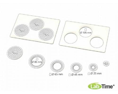 Крышка плоская для Пельтье CDP 115 с 3 отверстиями 107 мм и набором колец различных диаметров