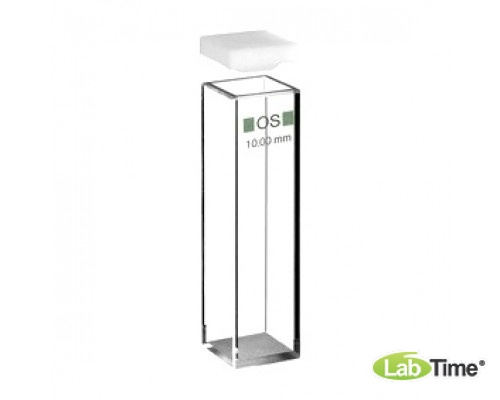 Кювета оптическое стекло 101-OS оптический путь 10х10 мм, с PTFEкрышкой