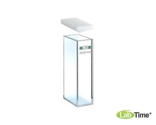 Кювета оптическое стекло 101-OS оптический путь 20х10 мм, с PTFEкрышкой