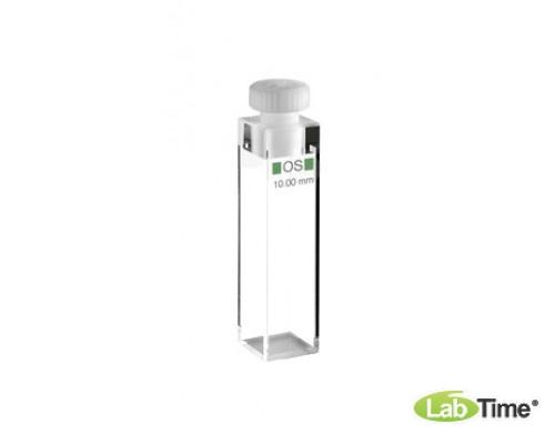 Кювета оптическое стекло 111-OS оптический путь 10х10 мм, с PTFE пробкой