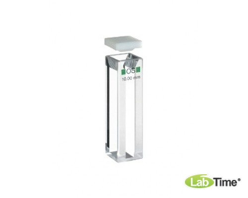 Кювета оптическое стекло 104.002F-OS оптический путь 10х2 мм, с PTFEкрышкой