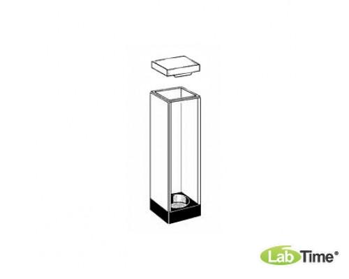 Кювета оптическое стекло 109.000F-OS оптический путь 10х10 мм, с PTFEкрышкой, вкл. 1 магнит