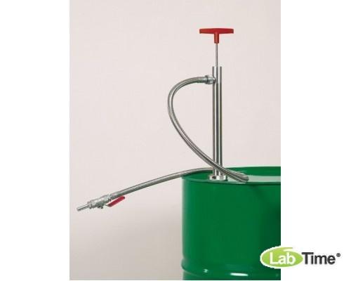 5601-0400 Насос для бочек нерж.сталь, сливная трубка, глубина погр. 36 см, 220 мл/такт