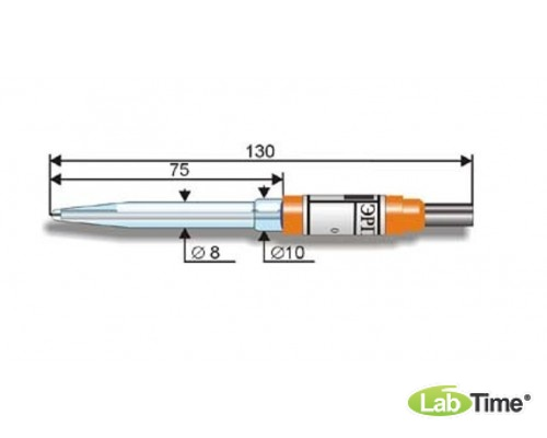 Электрод лабораторный ЭРП-102 (0…100 С, до 0,101МПа, d:12мм., L:155мм., к рН-150_)