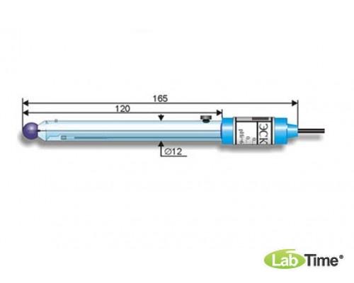 Электрод лаб. рН-измер. комбин. ЭСК-10601/4 (К80.8) /0..12, 0..100 С/ общего назначения, 2 ключа, д/работы при низкой и изменяющейся в широких пределах температуре