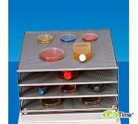 Платформа 4-уровня, нерж.сталь с резиновым покрытием