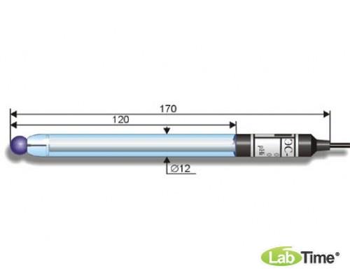 Электрод лаб. рН-измерительный ЭС-10601/7, аналог ЭСЛ-43-07 (К80.3) /0..12, 0..100 С/ общего назначения, для работы при низкой и изменяющейся в широких пределах температуре