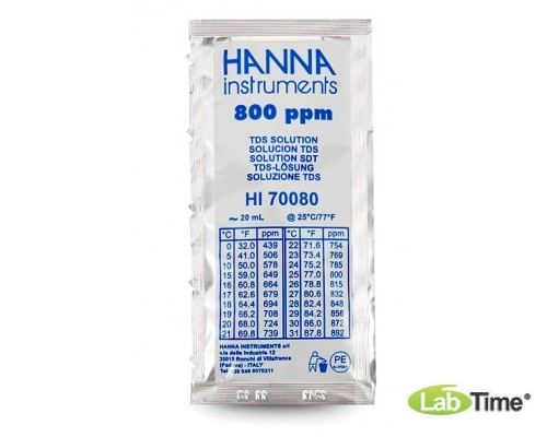 HI 70080P Раствор калибровочный 800 мг/л упак. 25 шт. по 20 мл