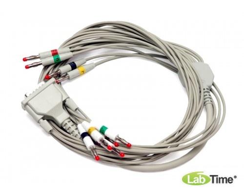 Дефизащитный ЭКГ кабель на 3 отведения для СА-360В (R-5651-1)